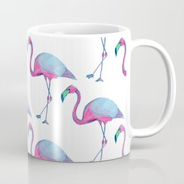 Pink Flamingos with blue wings Coffee Mug
