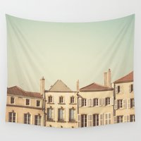 art history Wall Tapestries featuring designated town of art & history ... by Laura Evans