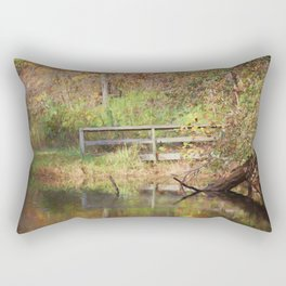 Bridge Over Oak Creek Pond Rectangular Pillow