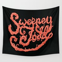 meat Wall Tapestries featuring Sweeney Todd Meat by greckler