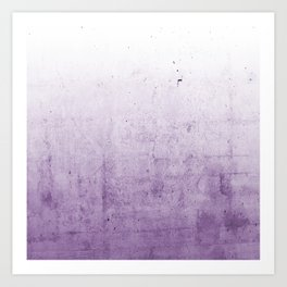 Radiant Orchid Purple Ombre Art Print