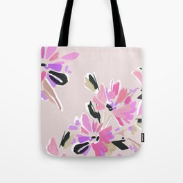 Mod Floral in Pink Tote Bag