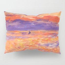 "Auguste Renoir ""Sunset at sea"" Pillow Sham"