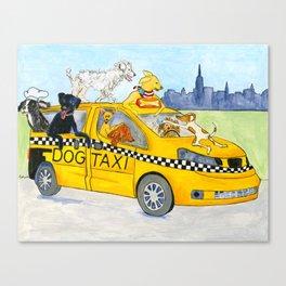 New York City Dog Taxi Canvas Print