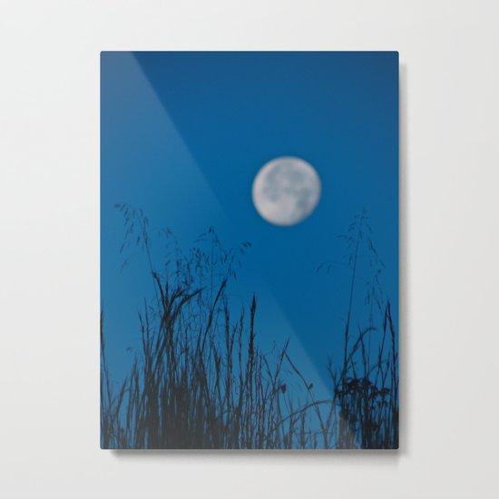 Faded Moon Metal Print