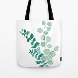 Watercolor eucalyptus leaves Tote Bag