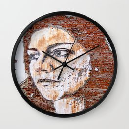 Painted women's face  Wall Clock