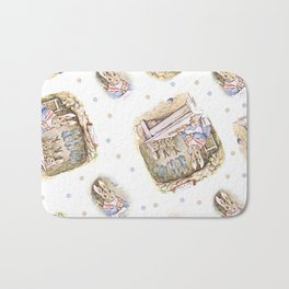 Rabbit Mommy vintage Beatrix Potter design Bath Mat