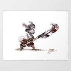 Lapin Barbare Art Print