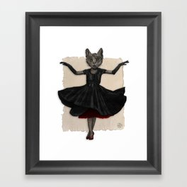 Twirling, Twirling, Couture Kitty Framed Art Print