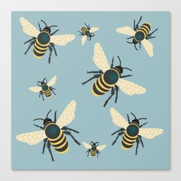 Bee Party Canvas Print