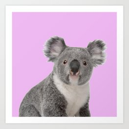 Pretty Cute Koala Art Print
