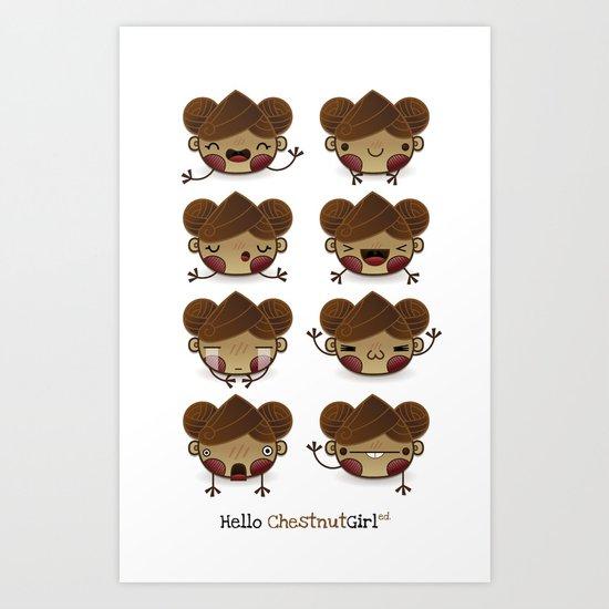 Chestnut Girl Mood Art Print
