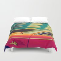 drive Duvet Covers featuring drive by Crockettsky