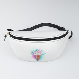Ice Cream Painted Watercolor Fanny Pack
