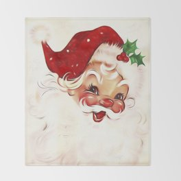 Vintage Santa 4 Throw Blanket