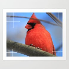 The Cardinal Portrait Art Print