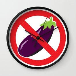 "Aubergine Nightmare ""No Eggplant"" Logo Wall Clock"