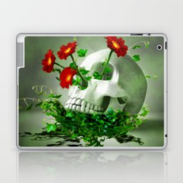 Skull Flower Laptop & iPad Skin