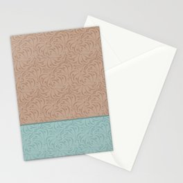 Combo beige turquoise abstract pattern . Stationery Cards