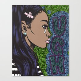 UGH Crying Girl Canvas Print