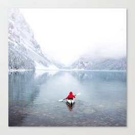 Kayaking Across A Canadian Lake Canvas Print