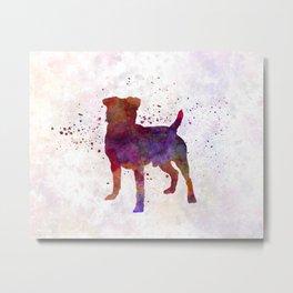 German Hunting Terrier in watercolor Metal Print