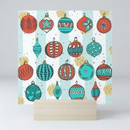 Bright MidCentury Christmas 1.0 Mini Art Print