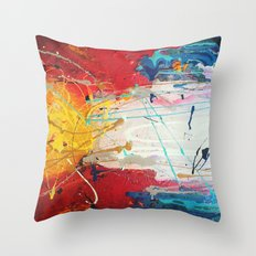Colorado Abstract Flag #2 Throw Pillow