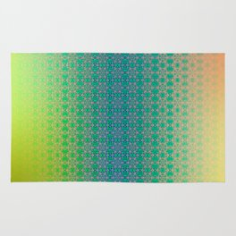 Ombre ornamental pattern Rug