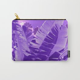 Ultra Violet Tropical Beach Palm Carry-All Pouch