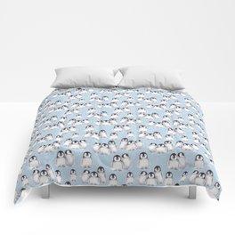 Penguin pattern on blue Comforters