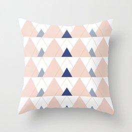 Peak Pink Pastel Throw Pillow