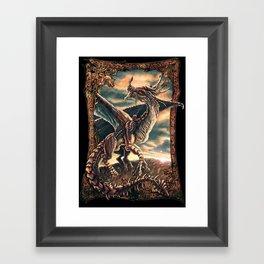 Bronze Dragon Framed Art Print