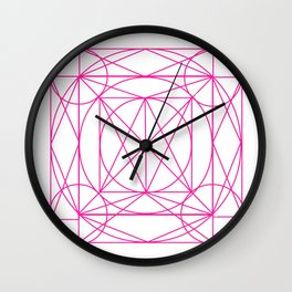 Stained Glass- Pink Wall Clock