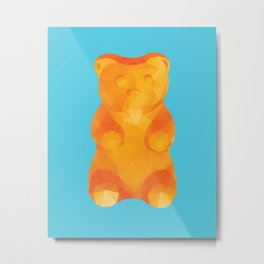 Gummy Bear Polygon Art Metal Print
