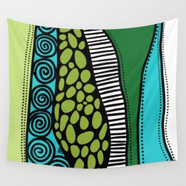 Green Dive -Plongeon vers-textures Wall Tapestry