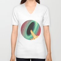 thrones V-neck T-shirts featuring Black holes and revelations by Laura Nadeszhda