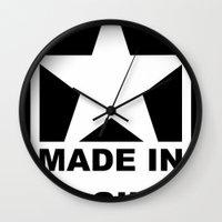 vagina Wall Clocks featuring MADE IN VAGINA by SLANTEDmind.com