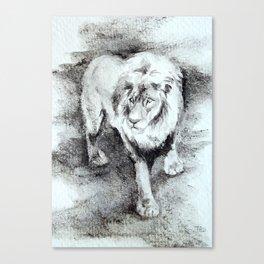 Oil Lion Canvas Print
