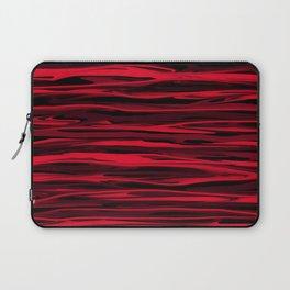 Juicy Red Apple Stripes Laptop Sleeve