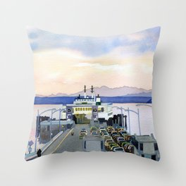 Ferry Line Throw Pillow