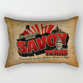 Greetings From Savoy Rectangular Pillow
