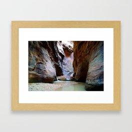 Narrows in Zion Park II Framed Art Print