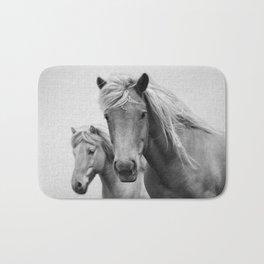 Horses - Black & White Bath Mat