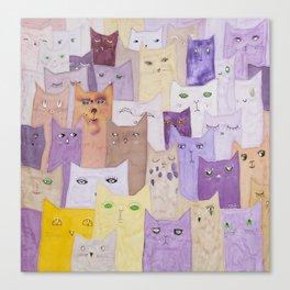 Cats conferance Canvas Print