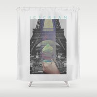 icecream Shower Curtains featuring Icecream by john muyargas