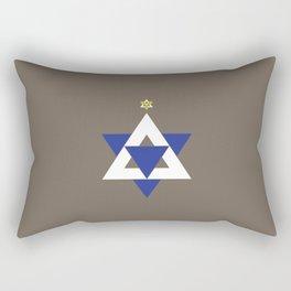 Christmas Star of David Rectangular Pillow