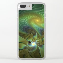 Mysterious, Abstract Fractals Art Clear iPhone Case