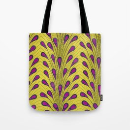 Yellow/Pink Ankara Peacock Tote Bag